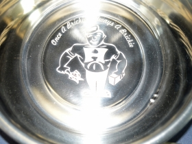 Ace Laser Tek laser marked dog bowl
