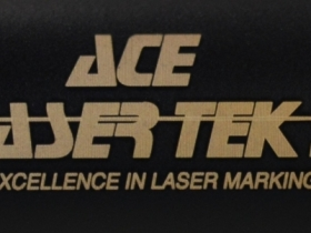 Ace Laser Tek laser marking ALT logo on pen