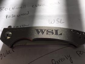 Knife Initals Marking
