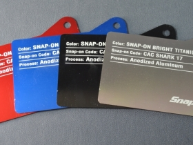 Ace Laser Tek laser marked Snap-On I.D. plates