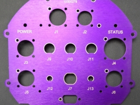 Ace Laser Tek laser marked anodized aluminium Control Panel