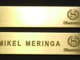 Ace Laser Tek laser marking brass name badge