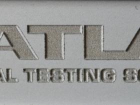 Ace Laser Tek laser engraving .010 Deep Logo in Aluminium